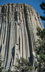 Climbing Devil's Tower #2, Wyoming
