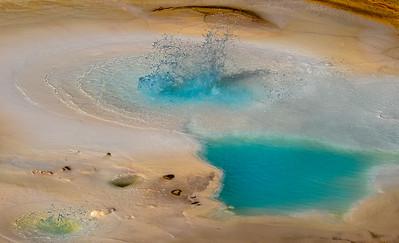 Boiling, Splattering Pool, Norris Basin, Yellowstone National Park, Wyoming