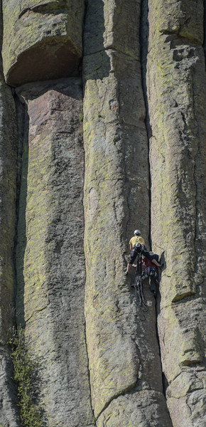 Climbing Devil's Tower #1, Wyoming
