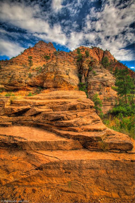 Zion canyon landscape in utah