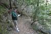 Marc checks the trail