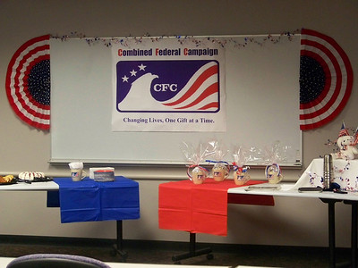 Beautiful display of the Combined Federal Campaign banner at the IRS Employee Giving Kick-off Event.