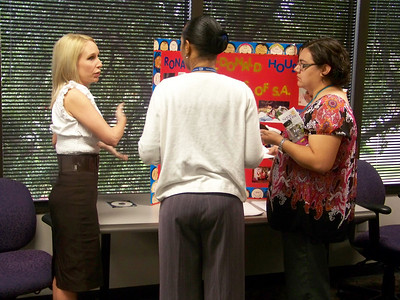 Ms Bivin, Volunteer Coordinator for the Ronald McDonald House talks to IRS employees.