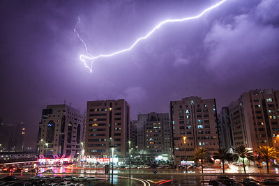 Lightning over Abu Dhabi ~ UAE
