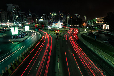 Light trails in Abu Dhabi ~ UAE