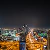 Sheikh Zayed road by night
