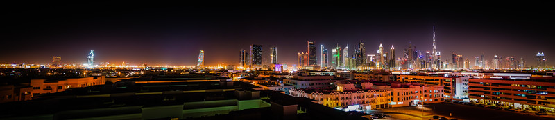 Dubai from the roof of the hotel Ramada Jumeirah