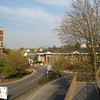 From the top of the bridge to the railway station looking out towards Dartford south
