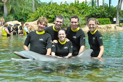At Discovery Cove in Orlando, Florida with my bestest of friends :)