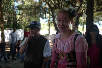 The Washing Well Wench - a favorite show! - at the Lady of the Lakes Renaissance Festival, Orlando, Florida.