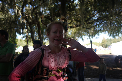 The Washing Well Wench posing at the Lady of the Lakes Renaissance Festival, Orlando, Florida