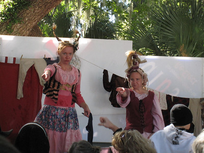 The Washing Well Wenches at the Lady of the Lakes Renaissance Festival, Orlando, Florida.