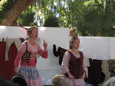 The raunchy but fun Washing Well Wenches at the Lady of the Lakes Renaissance Festival, Orlando, Florida.