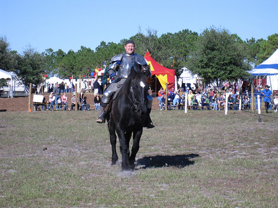 Prepping for the jousting match at the Lady of the Lakes Renaissance Festival, Orlando, Florida.