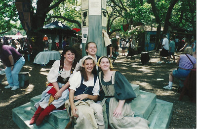 Peasants at the Market Cross at the 2001 Bay Area Renaissance Festival.