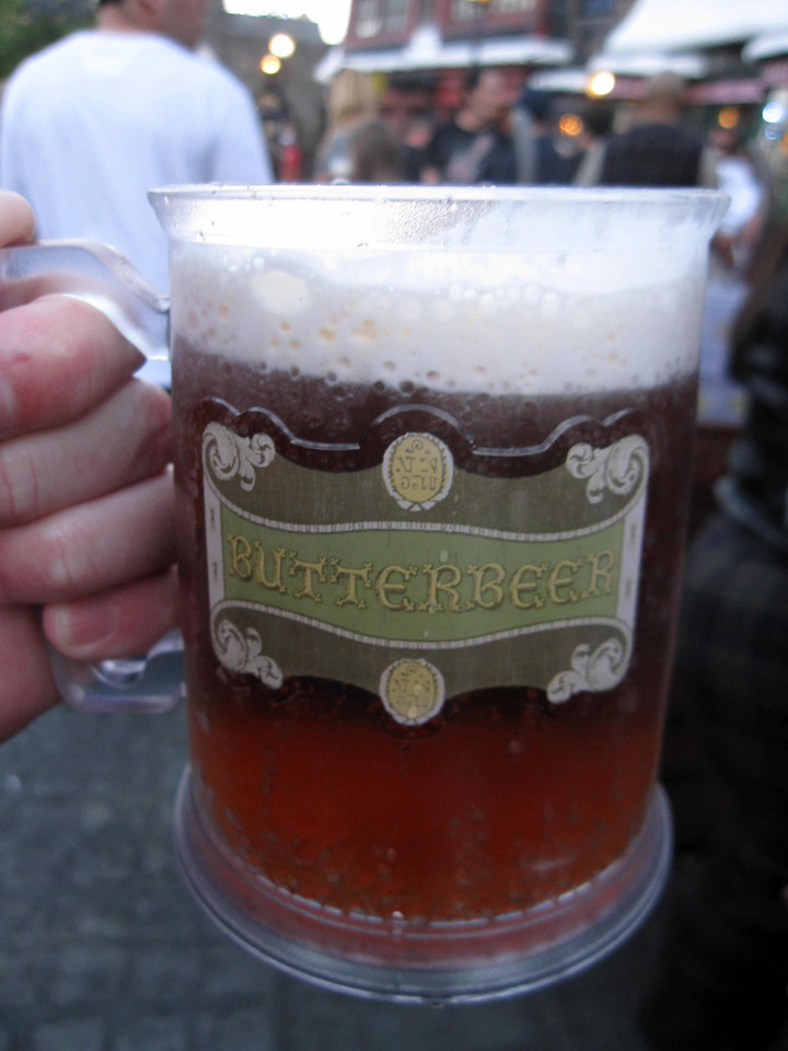 Delicious Butterbeer at the Wizarding World of Harry Potter, Universal Studios Orlando