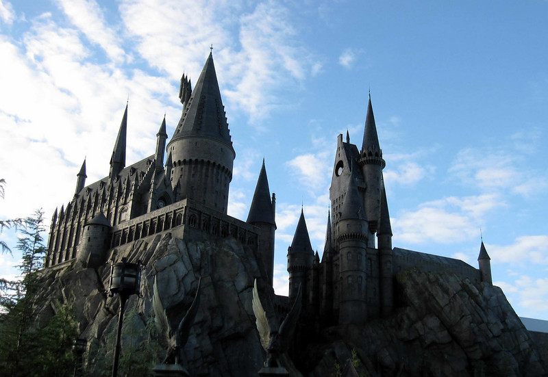 Hogwarts Castle and the new ride at the Wizarding World of Harry Potter, Universal Studios Orlando