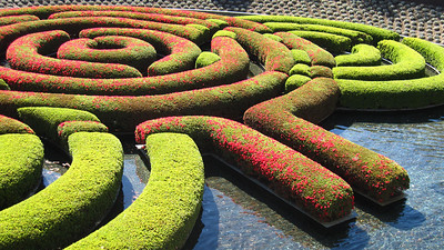 Shrub sculpture, Getty Center in Los Angeles, California