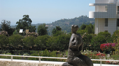 Faux Tuscan countryside, Getty Center in Los Angeles, California