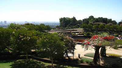 Elaborate gardens, Getty Center in Los Angeles, California