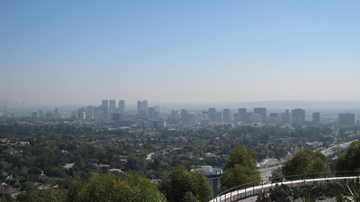 View of LA from the Getty Center in Los Angeles, California