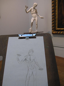 Sketching art at the Getty Center in Los Angeles, California