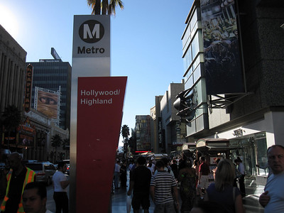 Hollywood and Highland Metro in Los Angeles