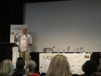 Gary Arndt speaking at TBEX Conference