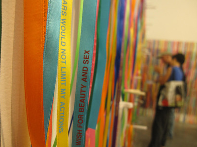 Brazilian ribbon bracelets at New Museum
