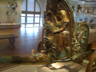 Bronze chariot used in Roman times