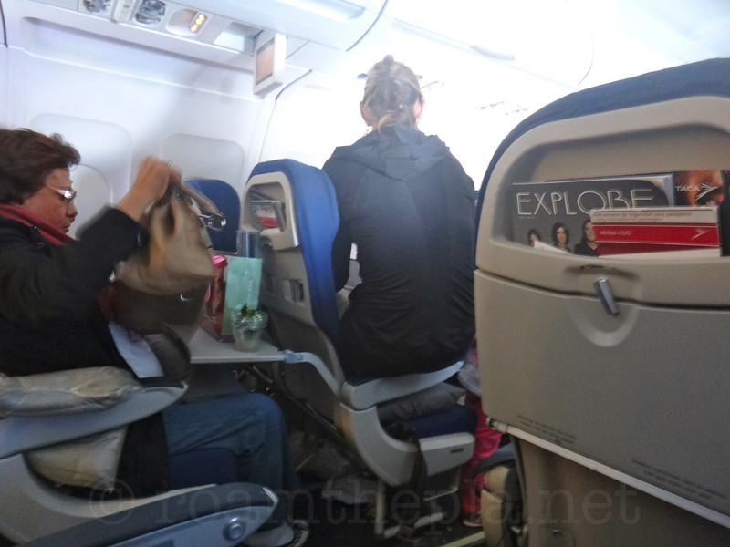 Uncomfortable Lady on a Plane