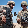 U.S. Army Cpl. Cody Bee, assigned to 1st Battalion, 325th Airborne Infantry Regiment, 2nd Brigade, 82nd Airborne Division, instructs a Spanish army trainer during M320-A1 grenade launcher proficiency training at the Besmaya Range Complex, Iraq, June 21, 2017. The breadth and diversity of partners supporting the Coalition demonstrate the global and unified nature of the endeavor to defeat ISIS in Iraq and Syria. CJTF-OIR is the global Coalition to defeat ISIS in Iraq and Syria. (U.S. Army photo by Cpl. Tracy McKithern/Released)