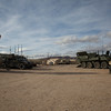 U.S. Army equipment stands on display for training exercise, Ruba, Forward Operating Base, National Training Center, Ft. Irwin, CA., Jan. 10, 2017. The National Training Center conducts tough, realistic, Unified Land Operations with our United Action Partners to prepare Brigade Combat Teams and other units for combat while taking care of Soldiers, Civilians, and Family members. (U.S. Army Spc. Tracy McKithern/Released)