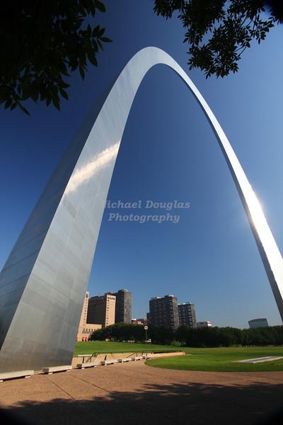 The Gateway Arch in St Louis, Missouri
