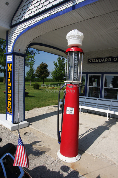 Old gas pump at the 1932 Standard Station in Odell, Illinois.
