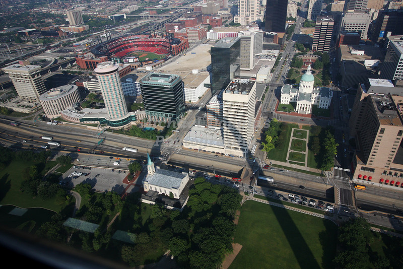 St Louis, Missouri as viewed from the op of the Gateway Arch