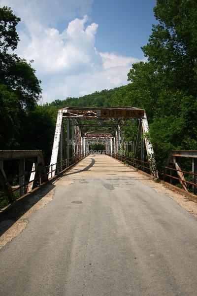 1923 Bridge over the Big Piney River in Devils Elbow, Missouri