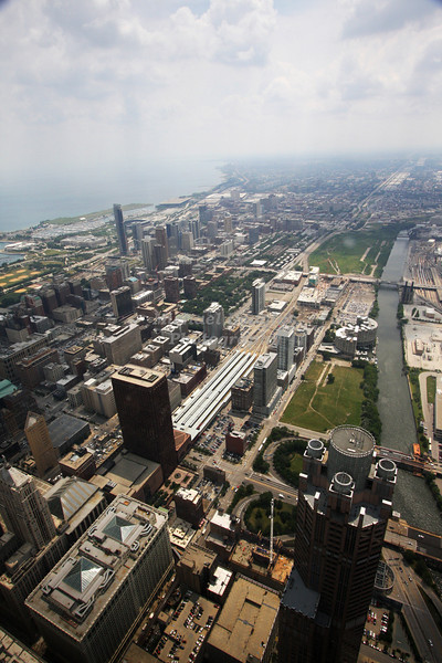 Chicago, Illinois as seen form the top of the Sears Tower.