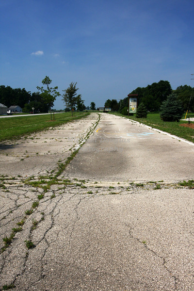 An old abandoned stretch of the original Route 66 in Towanda, Illinois