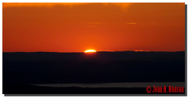2930_J9182350-Maine : Sunset from the summit of Cadillac Mountain, Acadia NP, Mount Desert Island