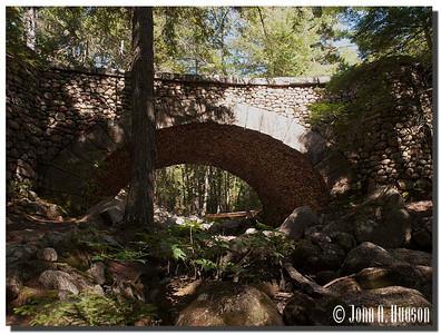 2932_J9192353-Maine : trail bridge on the Carriage Roads, near Bar Harbour, Mount Desert Island