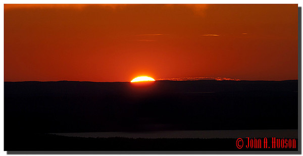 2929_J9182349-Maine : Sunset from the summit of Cadillac Mountain, Acadia NP, Mount Desert Island