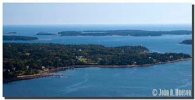 2936_J9212369-Maine : Somes Sound and Northeast Harbor from the summit of Acadia Mountain, Acadia NP, Mount Desert Island