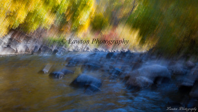 Blurred River in Autumn