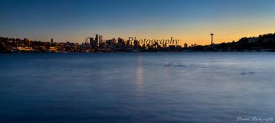 Seattle, Washington at sunset