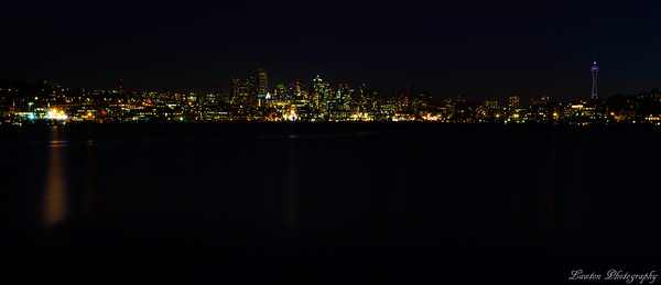 Seattle, Washington at night