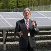 Unitil held a ribbon cutting for their new solar field on Sawyer Passway in Fitchburg on Wednesday morning. This field has 3,708 solar panels with 144 muilt-crystalline cells. The land was the site of a fossil fuel power plant for 100 years before Unitil put up the solar field. Mayor Stephen DiNatale addressed the crowd at the event. SENTINEL & ENTERPRISE/JOHN LOVE