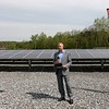 Unitil held a ribbon cutting for their new solar field on Sawyer Passway in Fitchburg on Wednesday morning. This field has 3,708 solar panels with 144 muilt-crystalline cells. The land was the site of a fossil fuel power plant for 100 years before Unitil put up the solar field. Tom Meissner the Chief Executive Officer and President of Unitil addresses the crowd at the event just before they cut the ribbon. SENTINEL & ENTERPRISE/JOHN LOVE