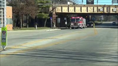 Evanston Eng & Truck returning from an alarm. This is Trk 23s new tiller