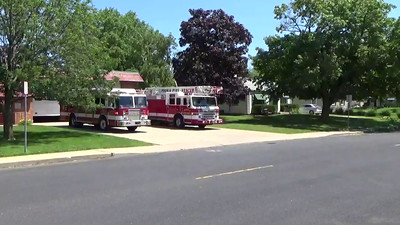 Fire units  responding Peoria Squad 2 and Truck 2